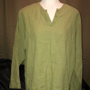 FLAX 100% Linen Tunic Women's Top - Size Small